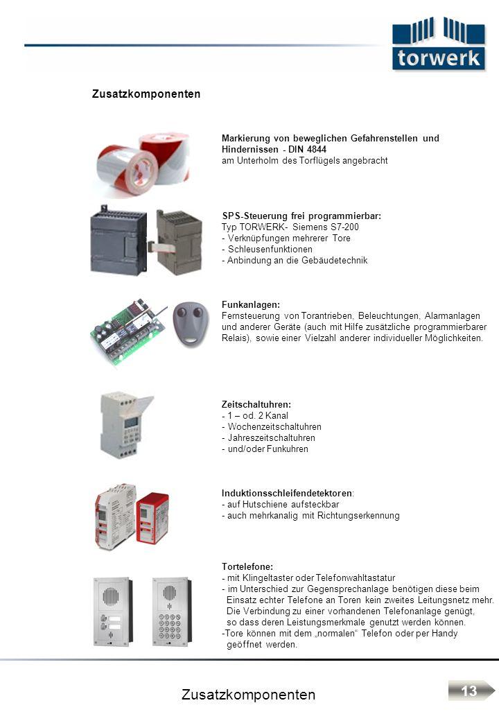 Zusatzkomponenten 13 Zusatzkomponenten
