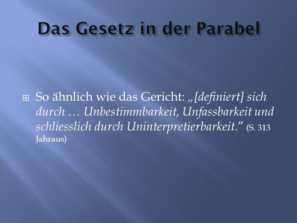 Das Gesetz in der Parabel