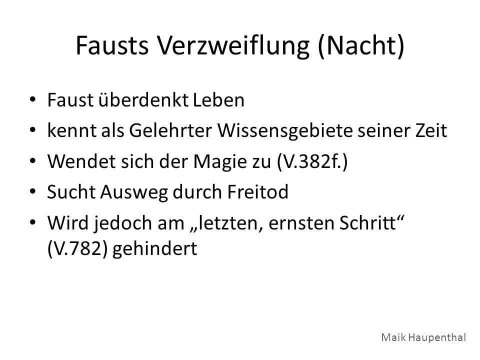 Fausts Verzweiflung (Nacht)