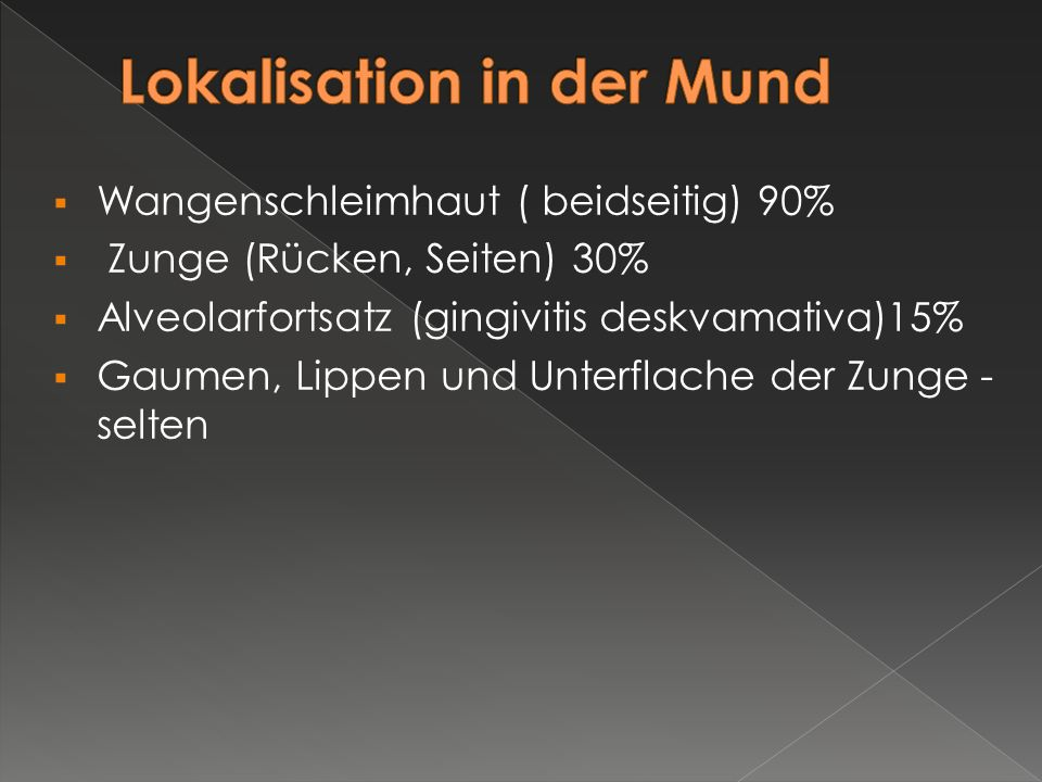 Lokalisation in der Mund