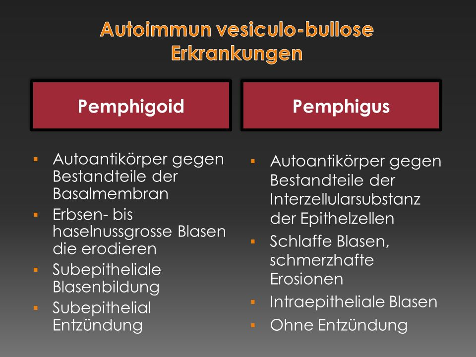 Autoimmun vesiculo-bullose Erkrankungen
