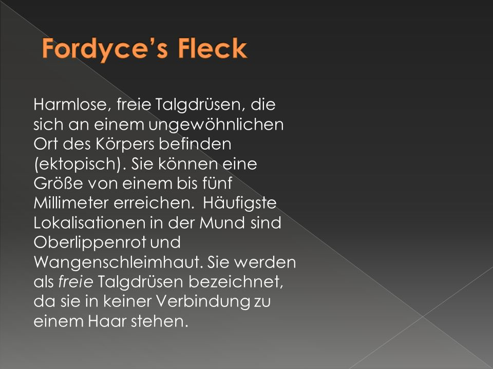 Fordyce's Fleck