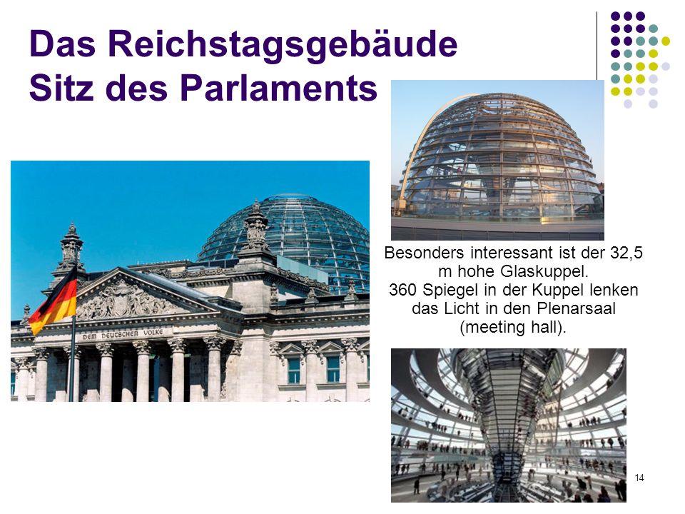 Das Reichstagsgebäude Sitz des Parlaments
