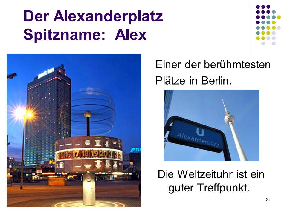 Der Alexanderplatz Spitzname: Alex
