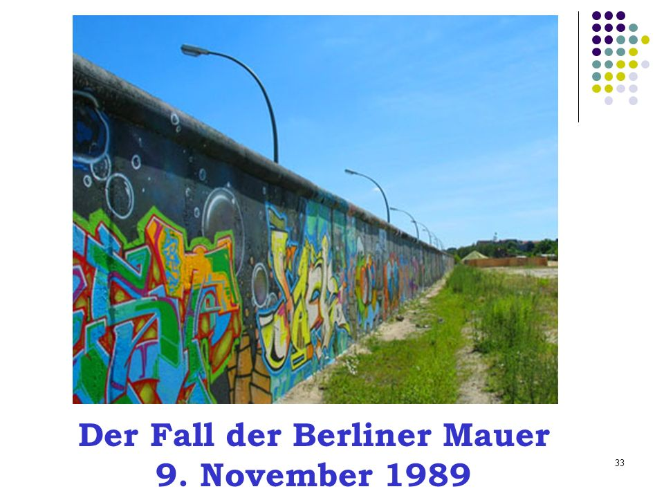 Der Fall der Berliner Mauer 9. November 1989