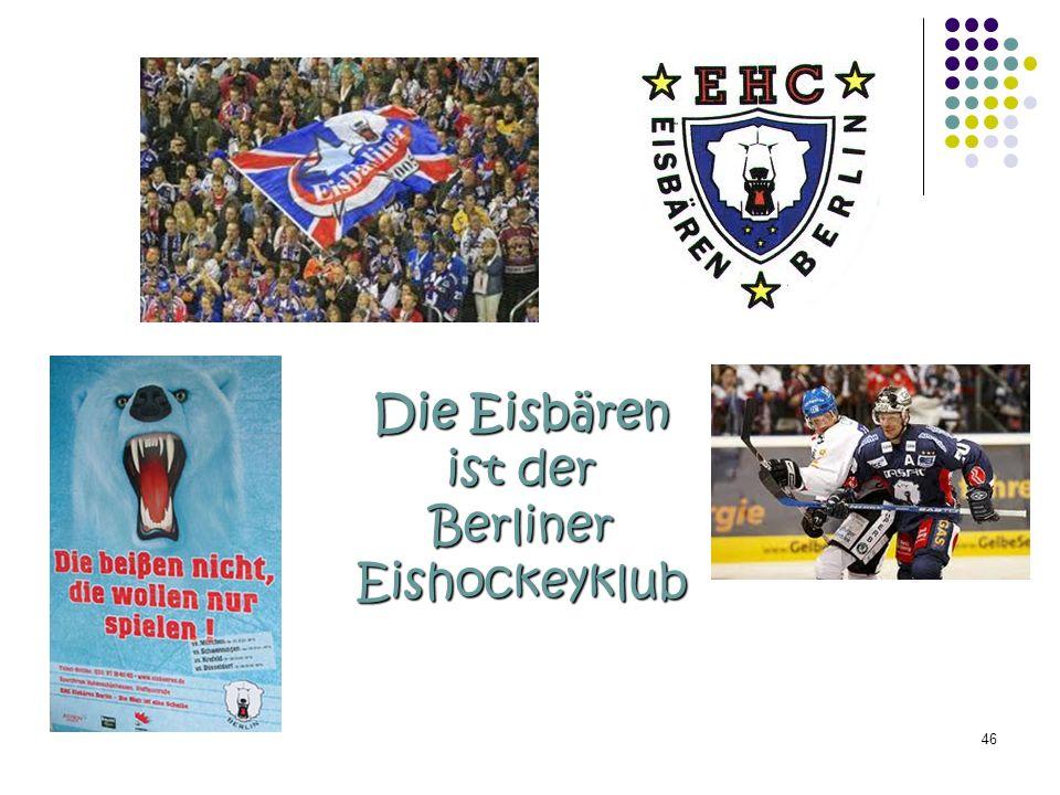 Die Eisbären ist der Berliner Eishockeyklub