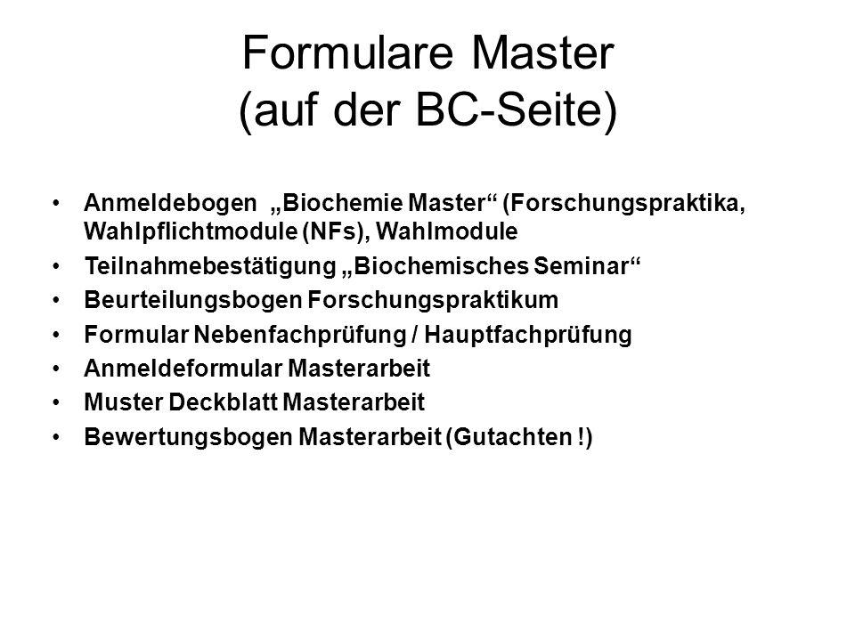 Formulare Master (auf der BC-Seite)