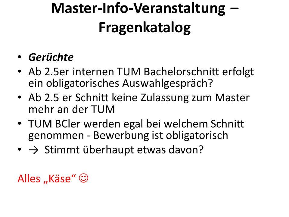 Master-Info-Veranstaltung – Fragenkatalog