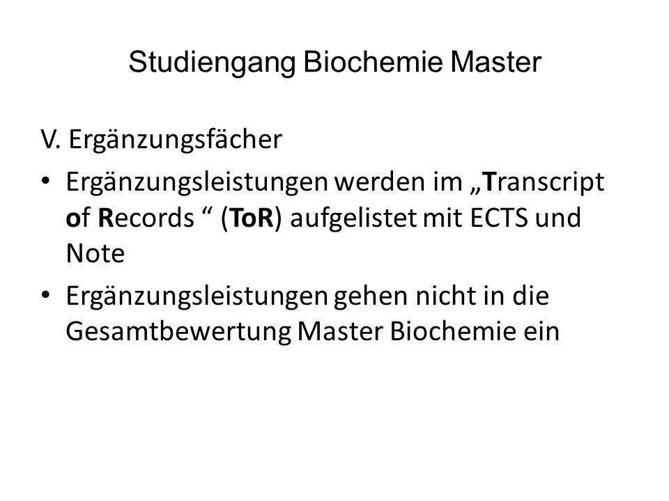 Studiengang Biochemie Master