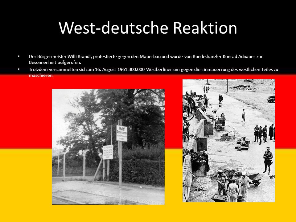 West-deutsche Reaktion
