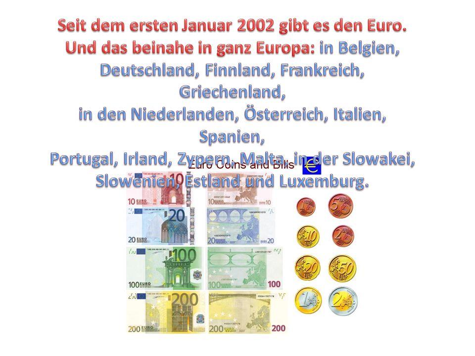 Seit dem ersten Januar 2002 gibt es den Euro.