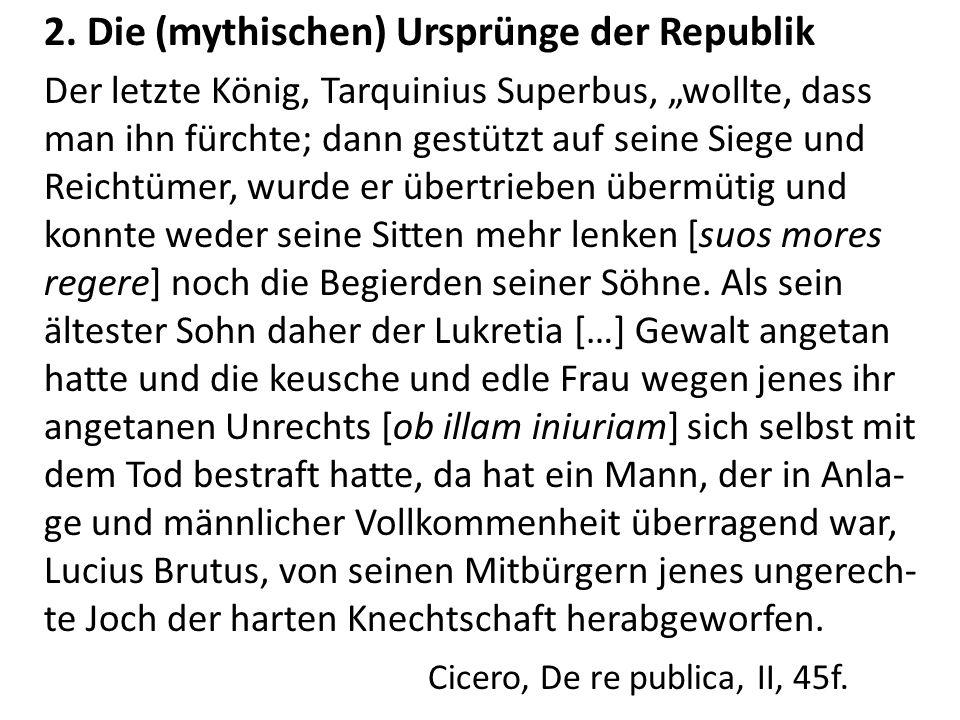 2. Die (mythischen) Ursprünge der Republik
