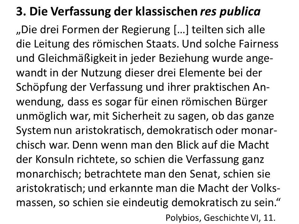 3. Die Verfassung der klassischen res publica