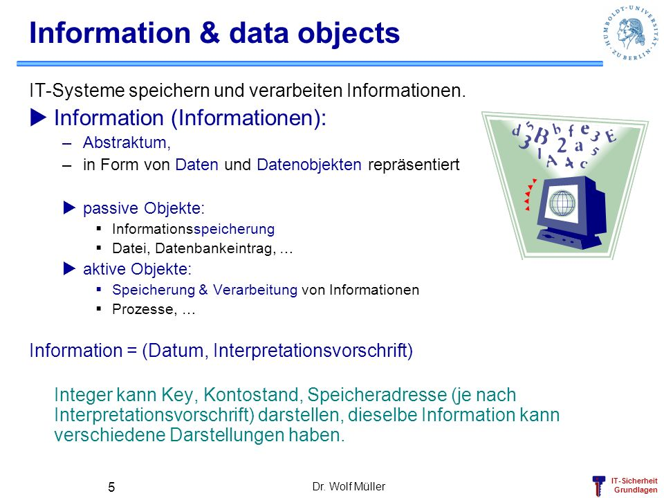 Information & data objects