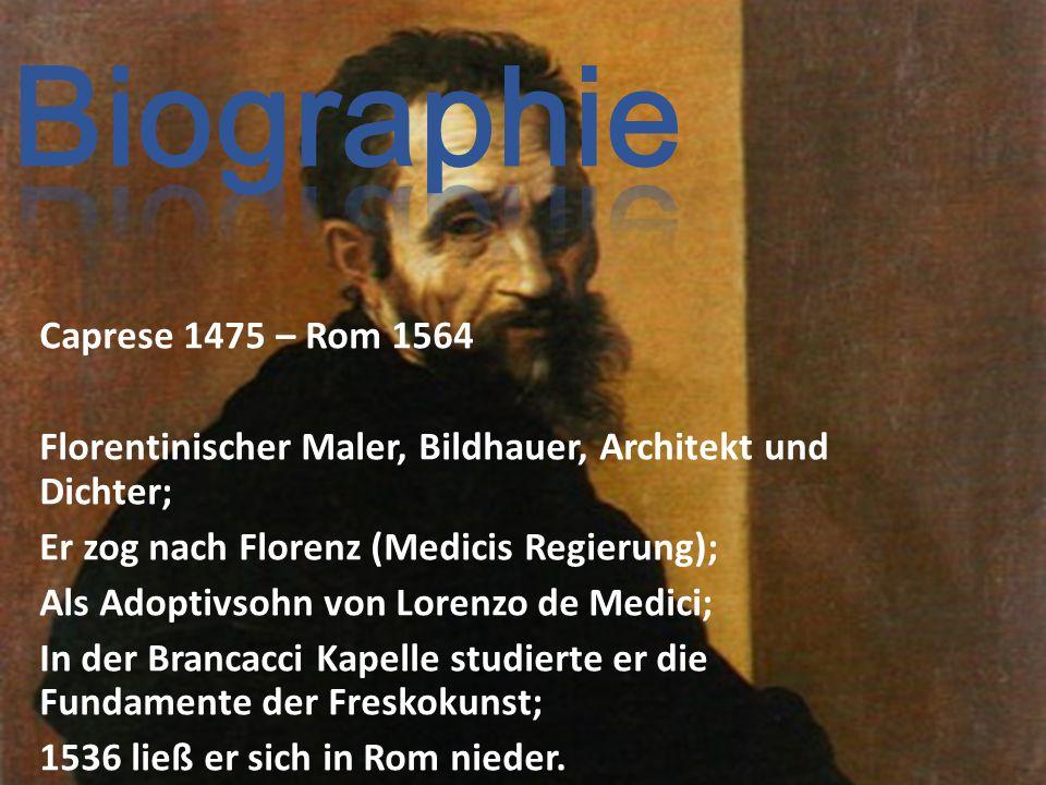 Biographie Caprese 1475 – Rom 1564