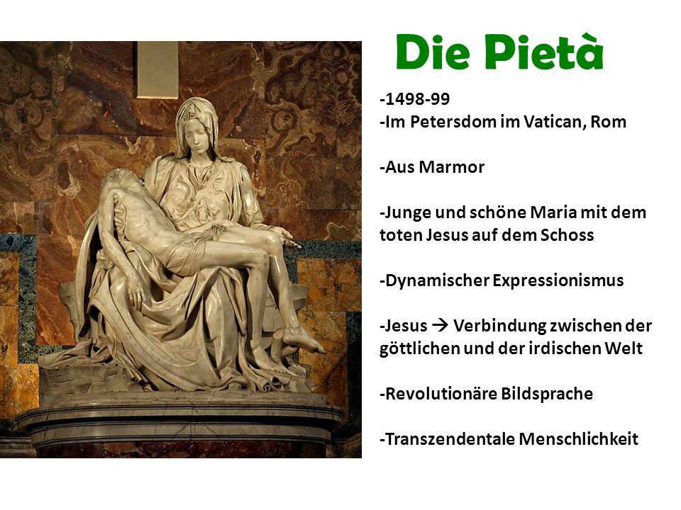 Die Pietà -1498-99 -Im Petersdom im Vatican, Rom -Aus Marmor