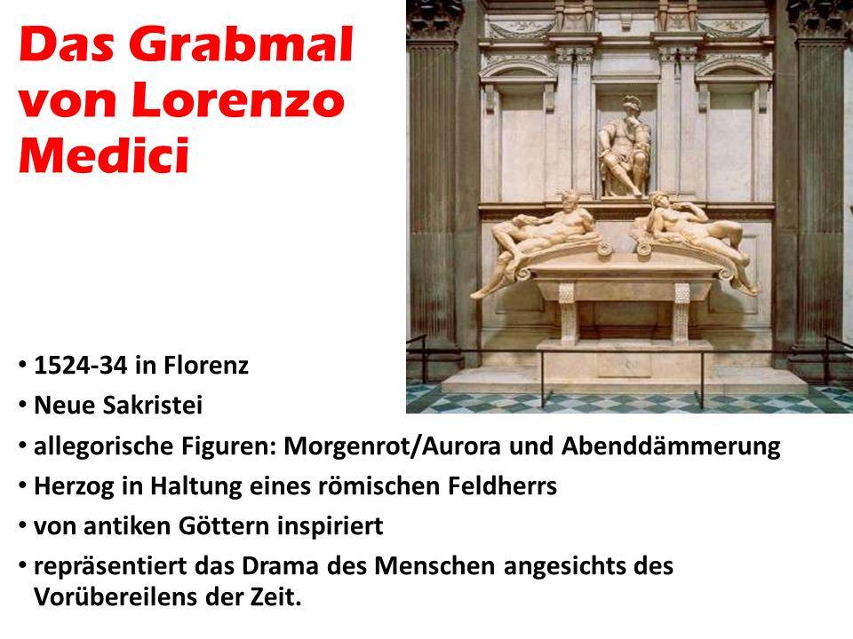 Das Grabmal von Lorenzo Medici