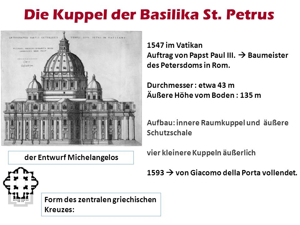 Die Kuppel der Basilika St. Petrus