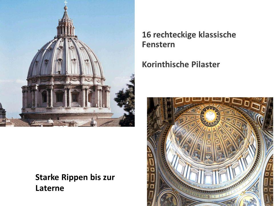 16 rechteckige klassische Fenstern Korinthische Pilaster