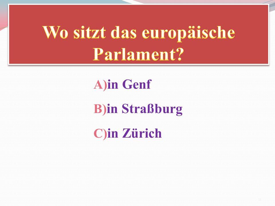 Wo sitzt das europäische Parlament