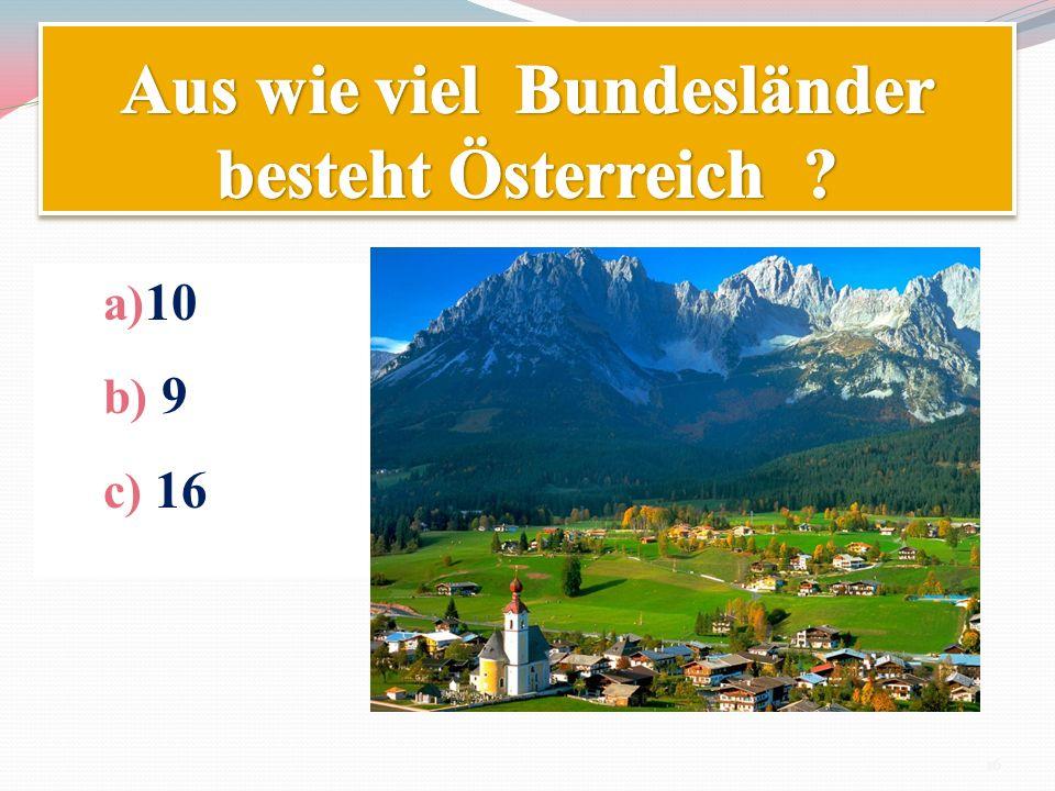 Aus wie viel Bundesländer besteht Österreich