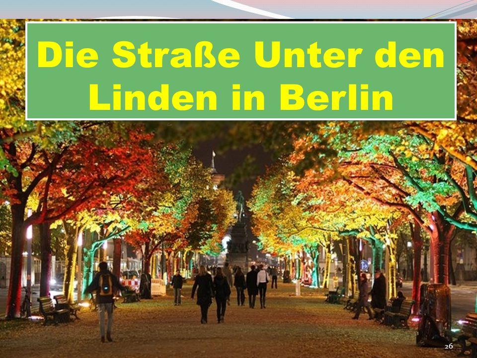 Die Straße Unter den Linden in Berlin