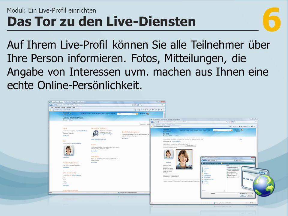 Das Tor zu den Live-Diensten