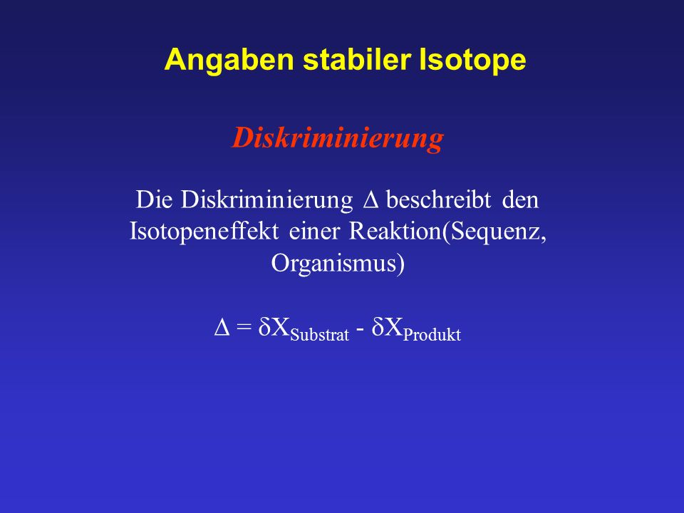 Angaben stabiler Isotope