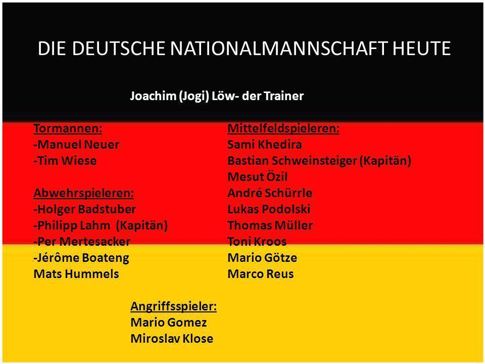 DIE DEUTSCHE NATIONALMANNSCHAFT HEUTE