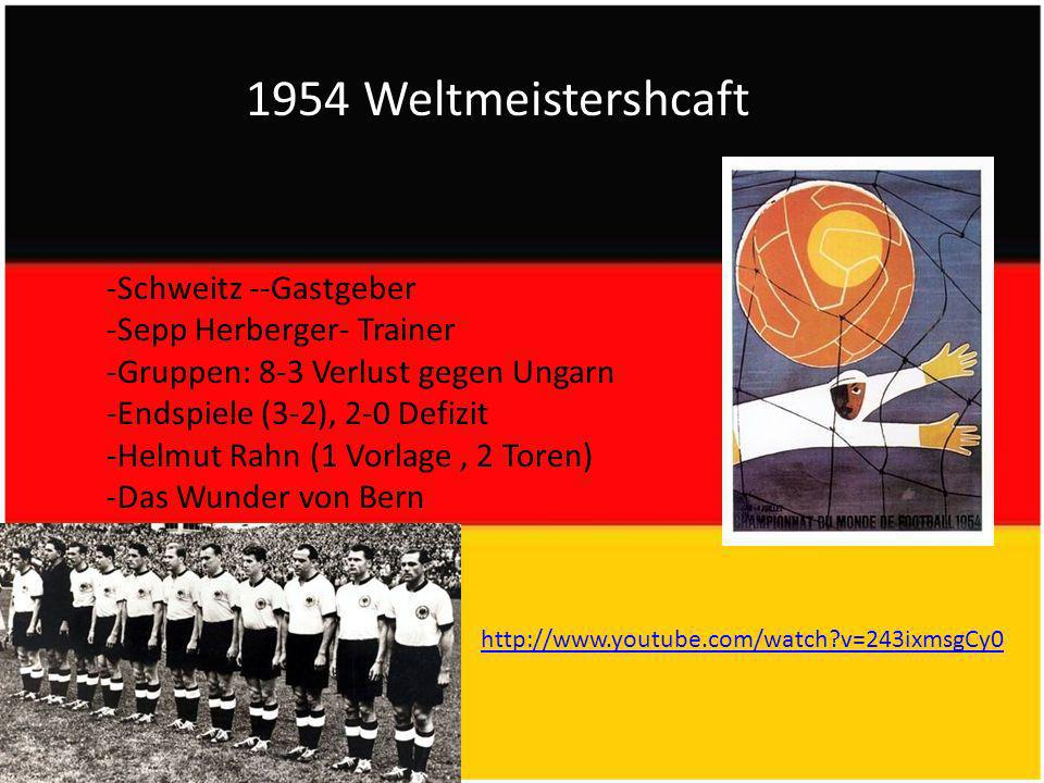 1954 Weltmeistershcaft -Schweitz --Gastgeber -Sepp Herberger- Trainer