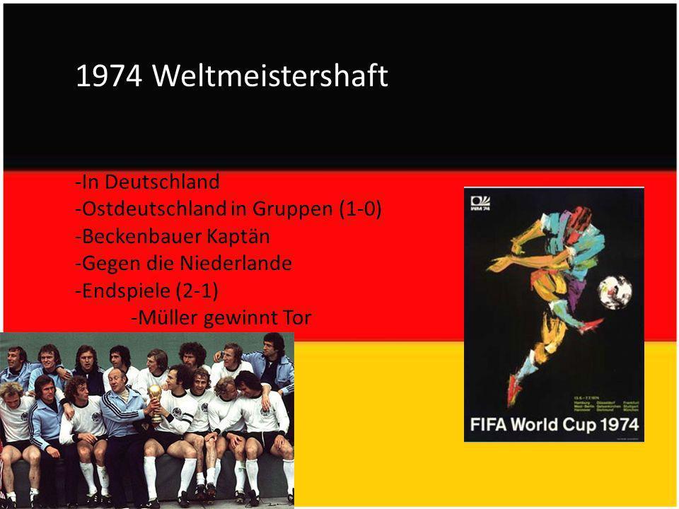 1974 Weltmeistershaft -In Deutschland -Ostdeutschland in Gruppen (1-0)