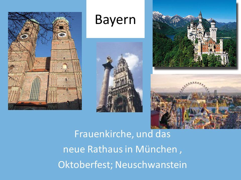 Bayern Frauenkirche, und das neue Rathaus in München ,