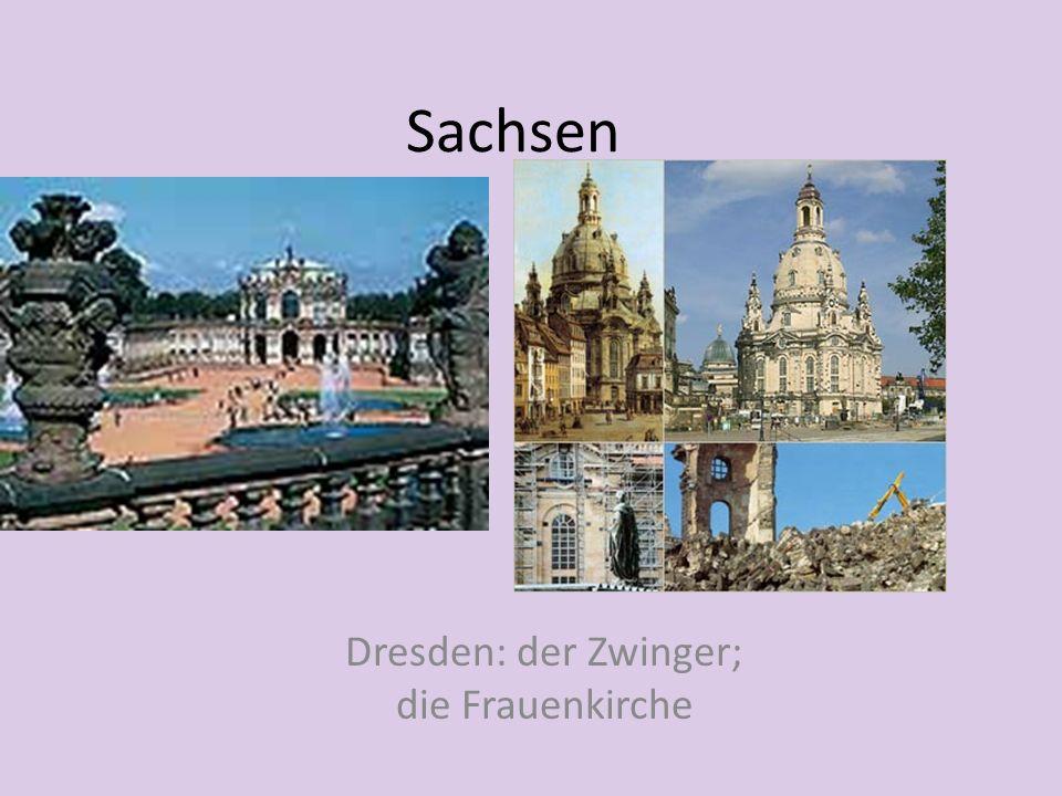 Dresden: der Zwinger; die Frauenkirche