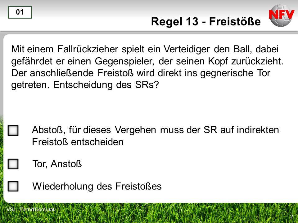 Regel 13 - Freistöße 01.