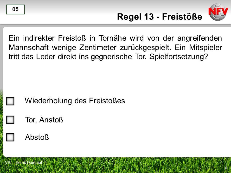 Regel 13 - Freistöße 05.