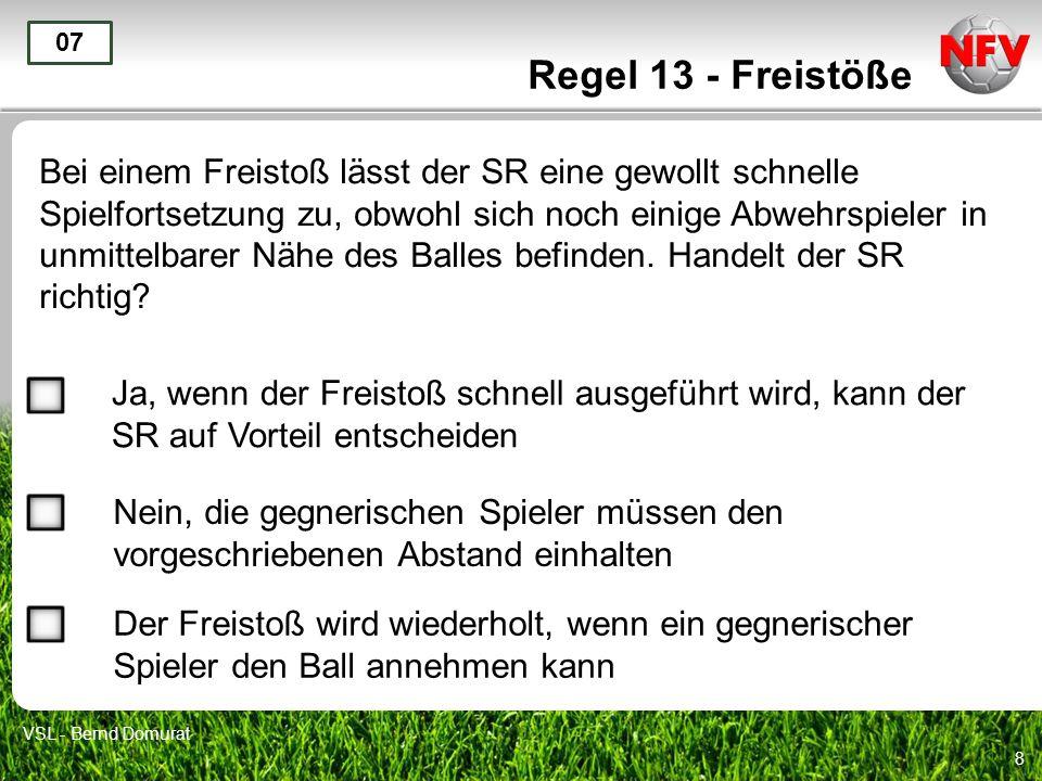 Regel 13 - Freistöße 07.