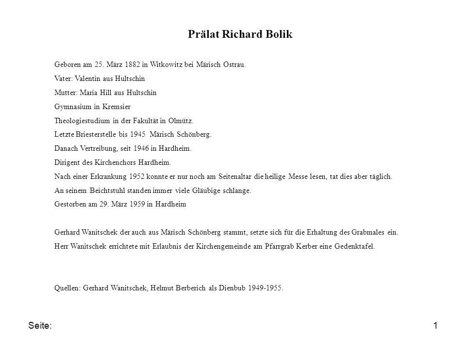 Prälat Richard Bolik Seite: