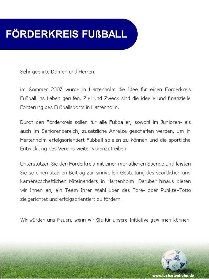 FÖRDERKREIS FUßBALL www.tushartenholm.de