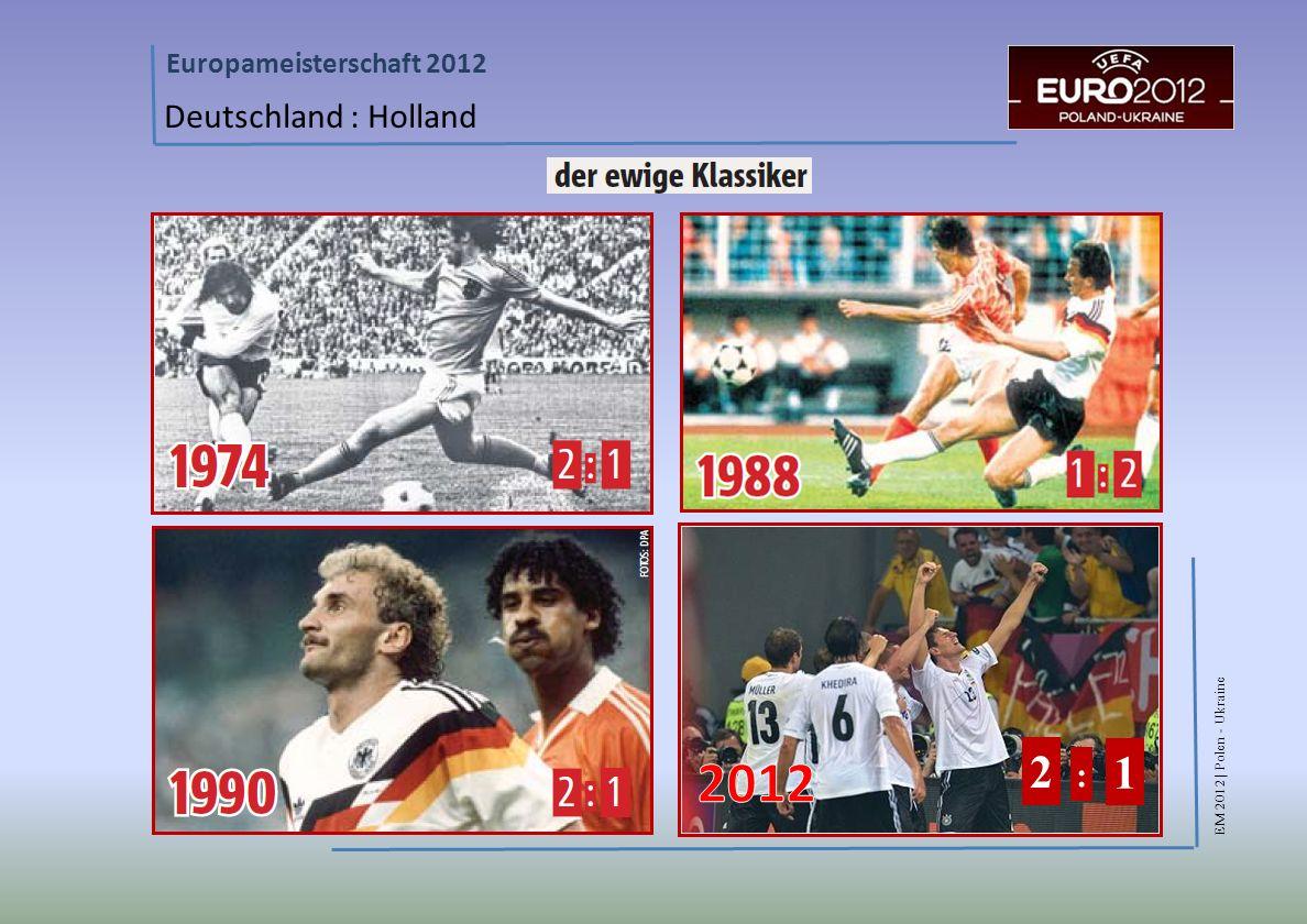 Deutschland : Holland 2012 2 1 :