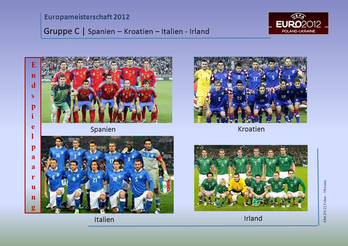 Gruppe C | Spanien – Kroatien – Italien - Irland