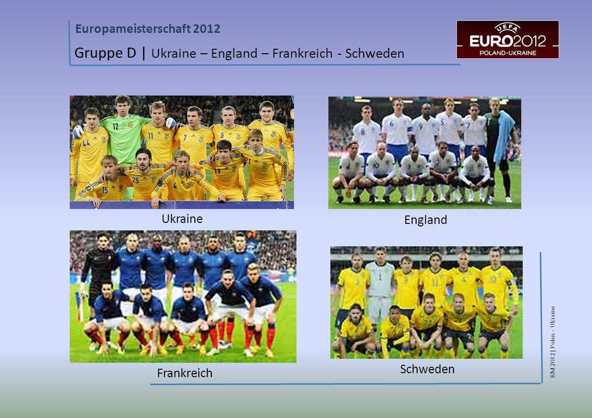 Gruppe D | Ukraine – England – Frankreich - Schweden