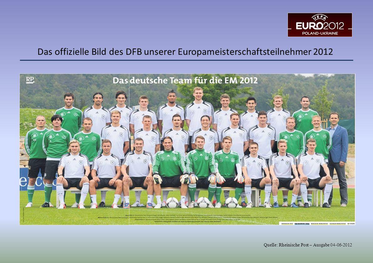 Das offizielle Bild des DFB unserer Europameisterschaftsteilnehmer 2012