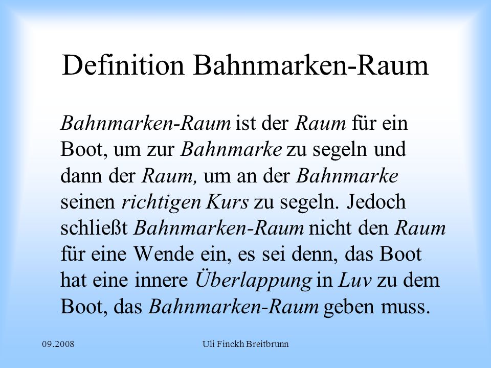 Definition Bahnmarken-Raum