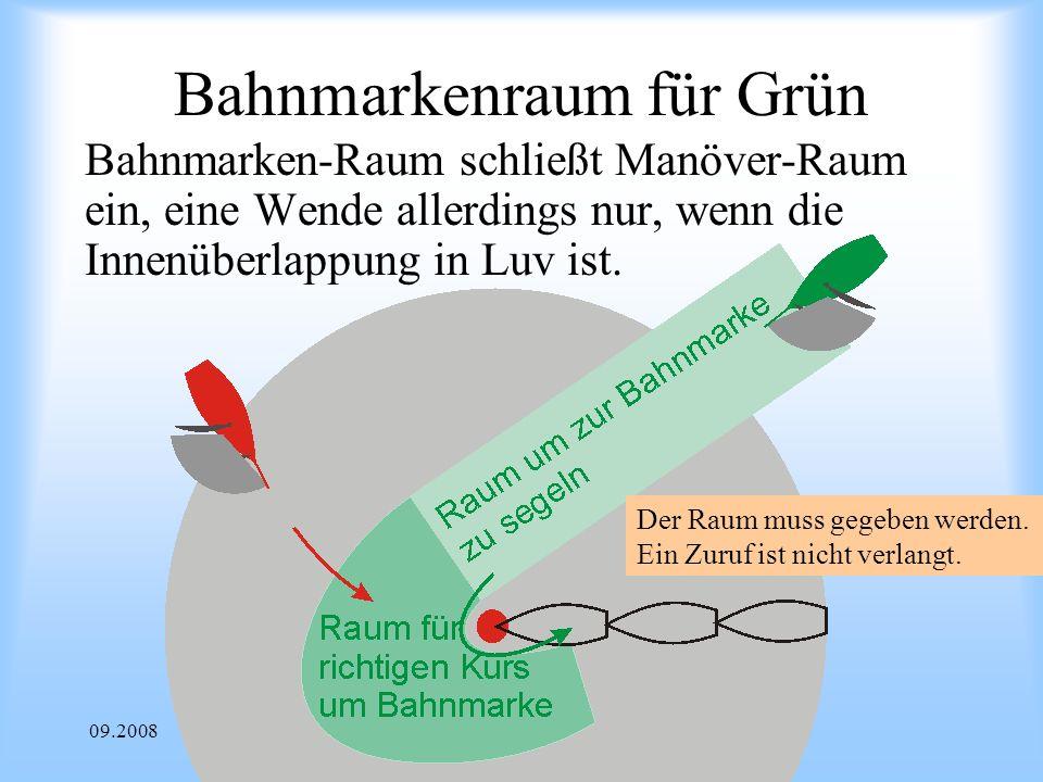 Bahnmarkenraum für Grün