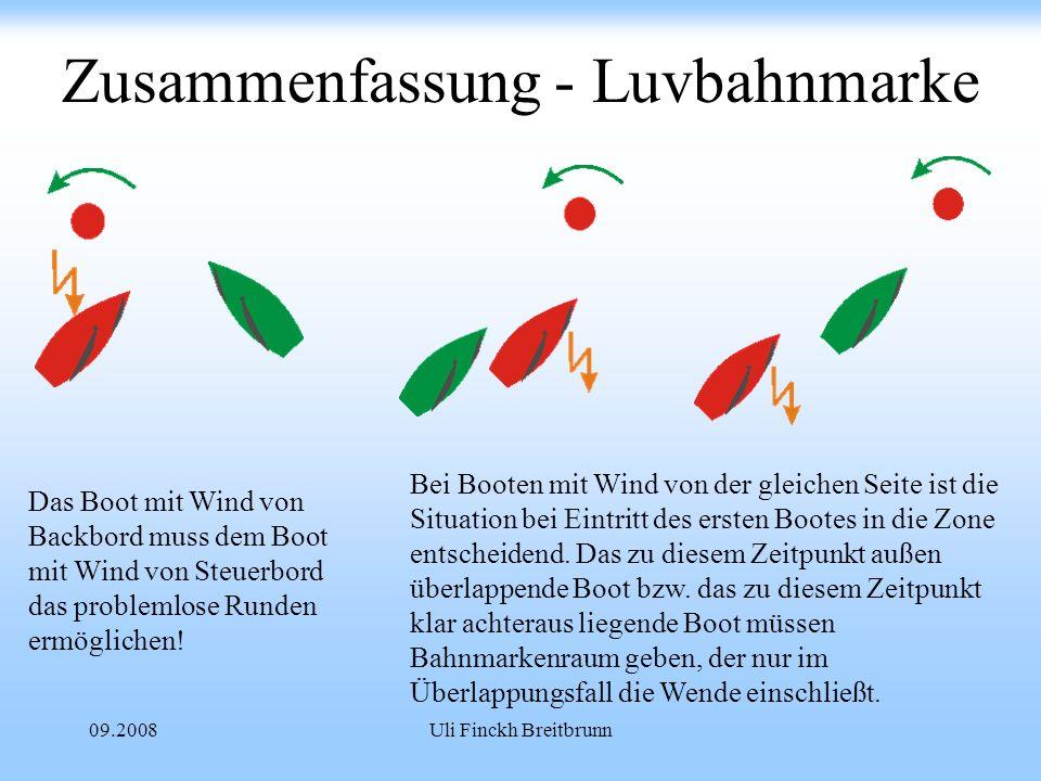 Zusammenfassung - Luvbahnmarke
