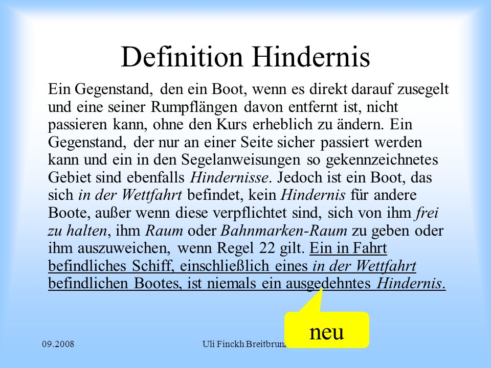 Definition Hindernis neu