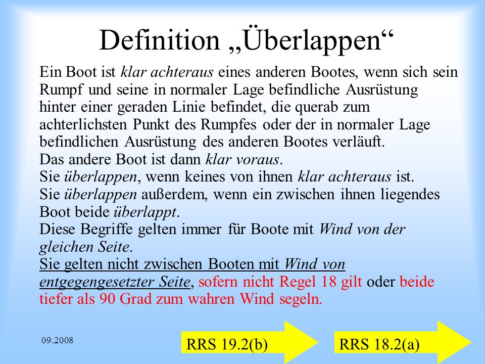 "Definition ""Überlappen"