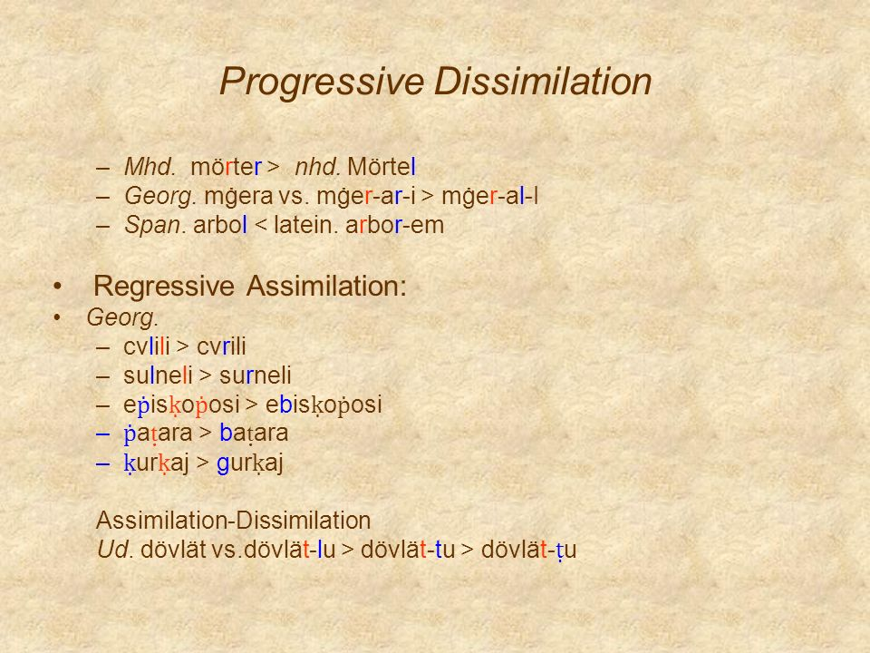 Progressive Dissimilation