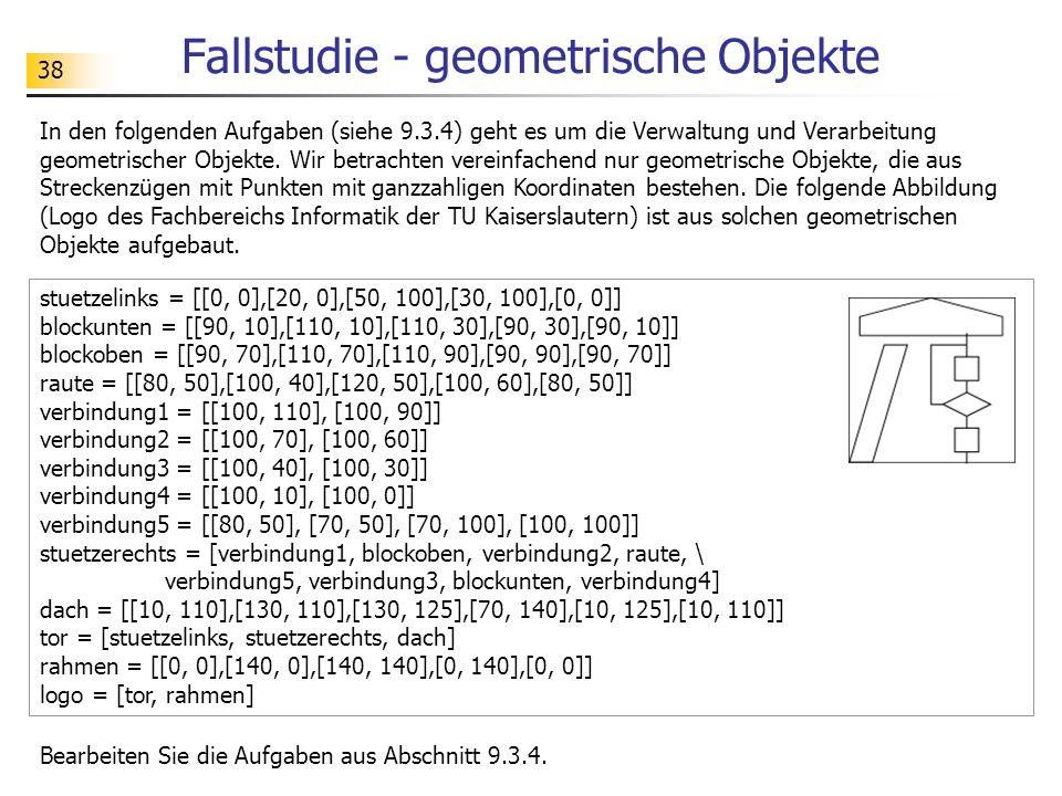 Fallstudie - geometrische Objekte