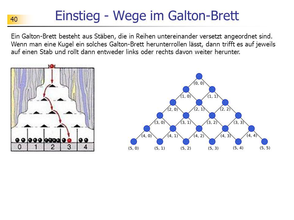 Einstieg - Wege im Galton-Brett
